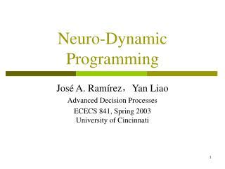 Neuro-Dynamic Programming