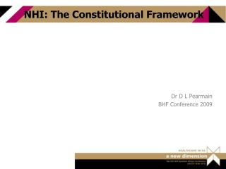 NHI: The Constitutional Framework