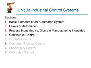 Unit 3a Industrial Control Systems