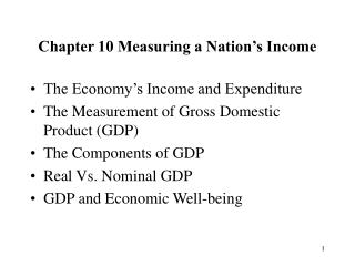 Chapter 10 Measuring a Nation's Income