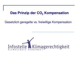 Das Prinzip der CO 2  Kompensation