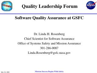 Quality Leadership Forum