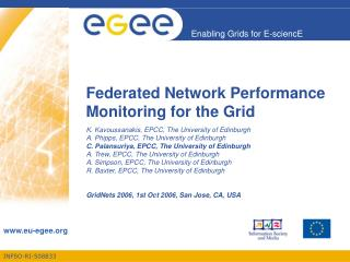 Federated Network Performance Monitoring for the Grid
