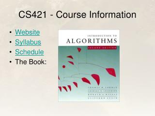CS421 - Course Information