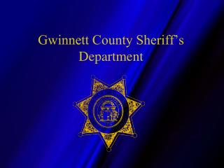 Gwinnett County Sheriff s Department