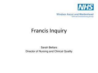 Francis Inquiry