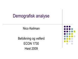 Demografisk analyse