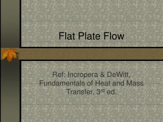 Flat Plate Flow