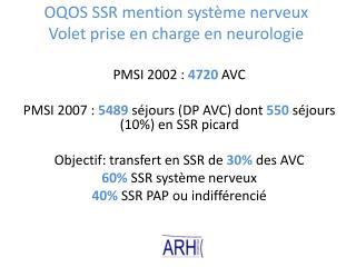 OQOS SSR mention système nerveux Volet prise en charge en neurologie