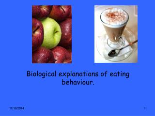 Biological explanations of eating behaviour.