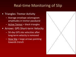 Real-time Monitoring of Slip