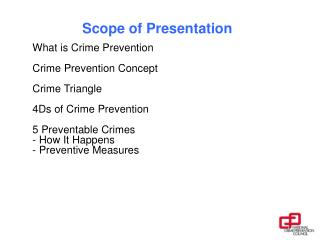 Scope of Presentation