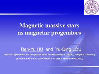 Magnetic massive stars  as magnetar progenitors