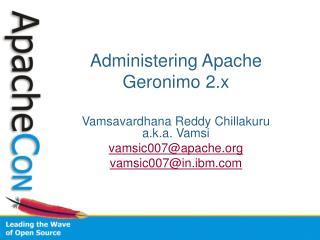 Administering Apache Geronimo 2.x