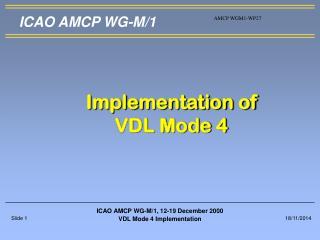 ICAO AMCP WG-M/1