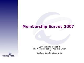 Membership Survey 2007