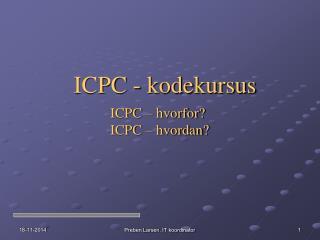 ICPC - kodekursus