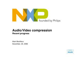 Audio/Video compression Recent progress