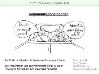 PTHV   Vortrag am 7. November 2008