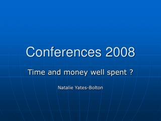 Conferences 2008