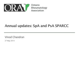 Annual  updates:  SpA and PsA SPARCC