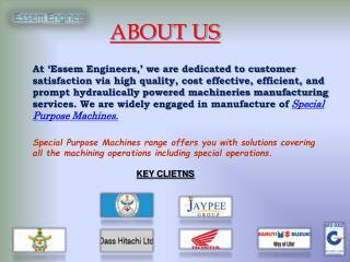 Leading Special Purpose Machines Manufacturers In Delhi