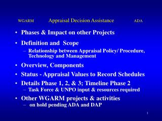 Phases & Impact on other Projects Definition and  Scope