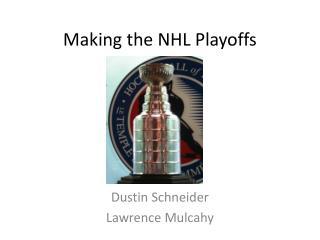 Making the NHL Playoffs