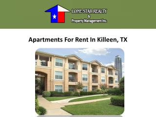 Killeen Apartments For Rent