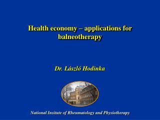 Health economy – applications for balneotherapy