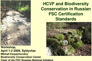 HCVF and Biodiversity Conservation in Russian FSC Certification Standards