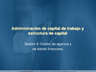Administración de capital de trabajo y estructura de capital
