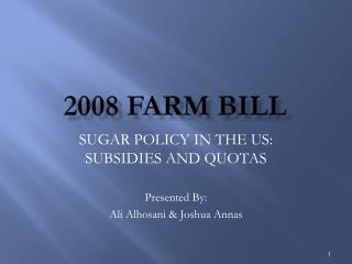 2008 Farm bill