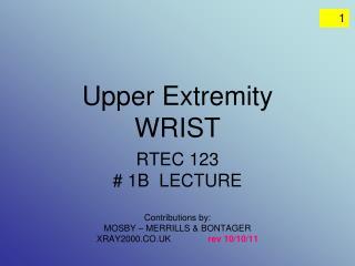 Upper Extremity WRIST