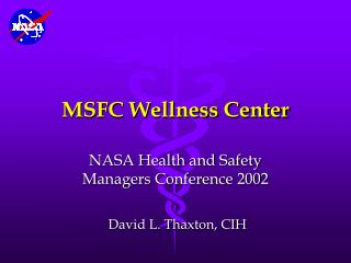 MSFC Wellness Center