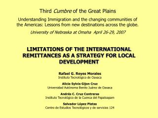 LIMITATIONS OF THE INTERNATIONAL REMITTANCES AS A STRATEGY FOR LOCAL DEVELOPMENT