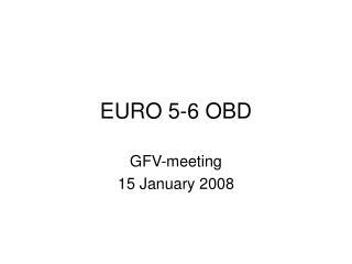 EURO 5-6 OBD