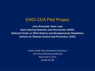 EHDI CDA Pilot Project