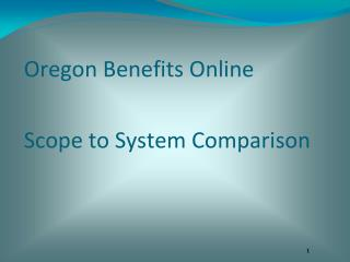 Oregon Benefits Online