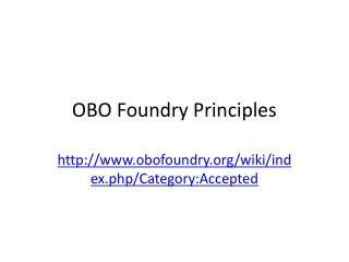 OBO Foundry Principles