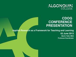 CDOG Conference Presentation