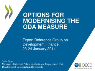 OPTIONS FOR MODERNISING THE ODA measure