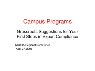 Campus Programs
