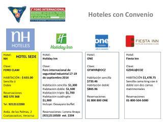 Hoteles con Convenio
