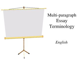 english essay terminology