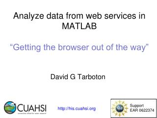 "Analyze data from  web services in  MATLAB ""Getting the browser out of the way"""