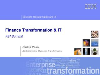 Finance Transformation & IT FEI Summit