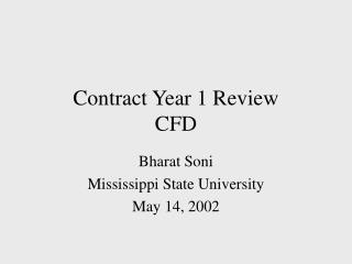 Contract Year 1 Review CFD