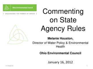 Commenting on State Agency Rules