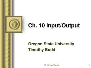 Ch. 10 Input/Output